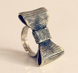 Fashion-Retro-Style-Cute-Lovely-Bowknot-Bow-Adjustable-Ring-NEW-Free-Ship