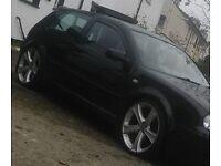 """19"""" alloys wheels 5x100 new tyres fit golf bora vw audi seat a3 leon etc"""