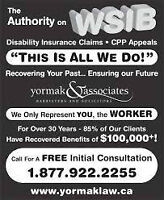 Have you been Denied WSIB / CPP Disability / STD/LTD Insurance?