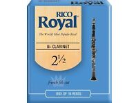 Rico Royal Bb Clarinet Reeds. Complete sealed boxes.