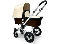 Cream/black bugaboo cameleon 3 - fully serviced and cleaned