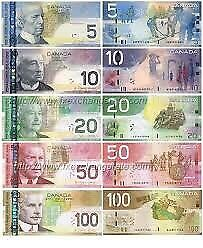 Wanted old Canadian Coloured paper bills