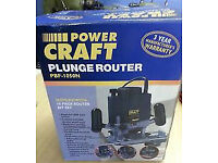 Power Craft Plunge Router Excellent fully boxed power tool