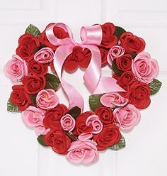Very pretty heart-shaped wreath