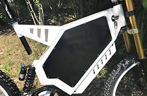 new 5000 Watt electric mountain bike with FULL SUSPENSION 75KMH