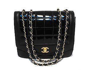 chanel vintage bag. vintage chanel black bag e