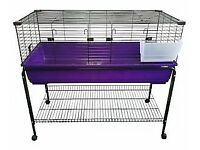 xl indoor rabbit guinea pig cage hutch with stand
