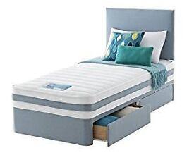 Single bed, 2 drawer, beech headboard