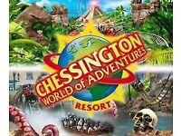 2 Chessington Tickets - £15 each / 9th May 2018