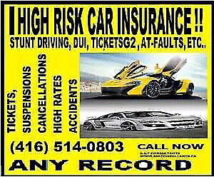 HIGH RISK DRIVERS INSURANCE