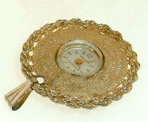 Vintage pendant watch ebay ladies vintage pendant watch mozeypictures Images