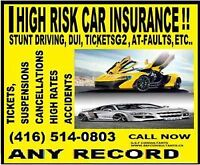 HIGH RISK, ACCIDENTS, TICKETS,NEED CHEAPER AUTO INSURANCE.