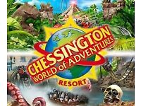 2 x adult tickets for chessington 25th May 18