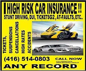 HIGH RISK DRIVER DUE TO ACCIDENTS TICKETS, CLAIMS AND NEED CHEAP
