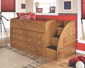 Ashley Furniture Loft Bed with 2 dressers