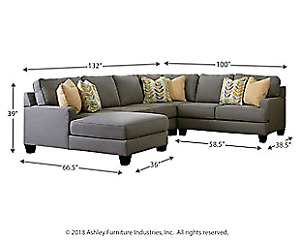 Ashley furniture chamberly 5 piece sectional