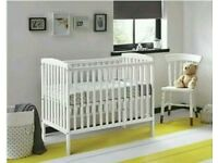 Kinder valley kie cot white with free mattress. Brand new 3 left only.