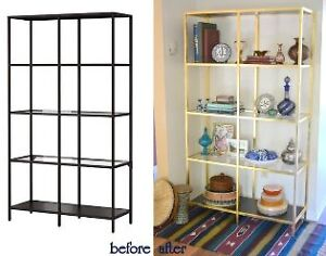 Gold display cabinet / bookcase - MOVING SALE!