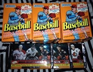 Baseball - Hockey unopened packs