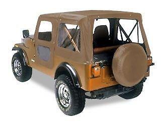 1976 Jeep Cj7 Denim (Bestop 1976 - 1986 Jeep CJ-7 Tan Denim Replacement Soft Top 51118-04)