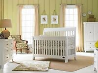 White nursery chest or drawers and wardrobe baby furniture