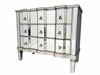 NEW! DEEP MIRRORED 3 DRAWER VINTAGE STYLE CHEST