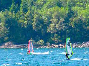 Windsurfing adventure tour/ lesson $130 for 2- 3 hours of fun! Kawartha Lakes Peterborough Area image 3