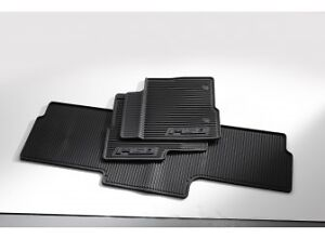 Floor Mats - All-Weather Thermoplastic Rubber, Black 3-Pc