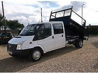 Ford Transit double cab crew cab tipper