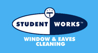 STUDENT WORKS WINDOWS AND EAVES CLEANING!