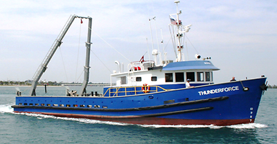 "For Sale ""MV Thunderforce"" Steel Hulled Research / Utility Vessel"