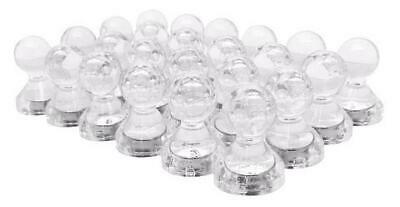 Small Clear Translucent Magnetic Push Pins 24 Pack