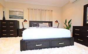 Hardwood Midnight Bed Frame (Queen/King) - Brand New Elsternwick Glen Eira Area Preview