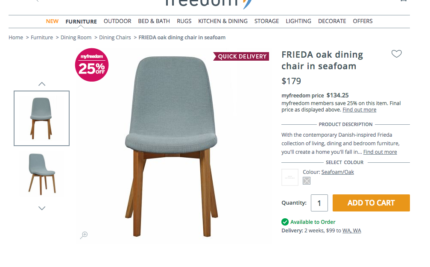 Freedom Dining chairs x 4 Dining Chairs Gumtree Australia