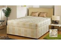 FREE FAST DELIVERY !! DOUBLE DIVAN DEEP QUILT BED !! BED BASE + DEEP QUILT MATTRESS, SINGLE AND KING