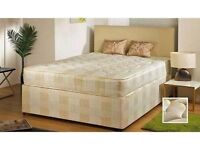 ** SPECIAL OFFER ** DOUBLE SIZE DIVAN BED BASE WITH DEEP QUILT MATTRESS - DELIVERY SAME DAY