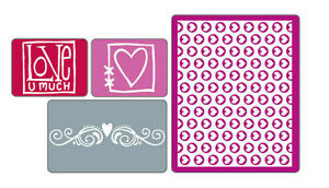 Sizzix Textured Impressions Embossing Folders 4PK - Love Set
