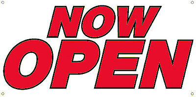 Now Open Vinyl Banner Sign New 2x4 Ft - Wb