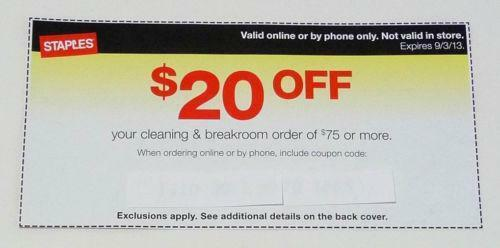 Staples coupon 25 off 75 ebay