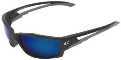 Edge Eyewear - Tskap218 Kazbek Black Safety Glasses W Polarized Aqua Blue Lens