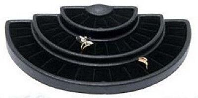 NEW Black 36 Slot 3 Tier Ring  Display Jewelry Stand Foam Insert