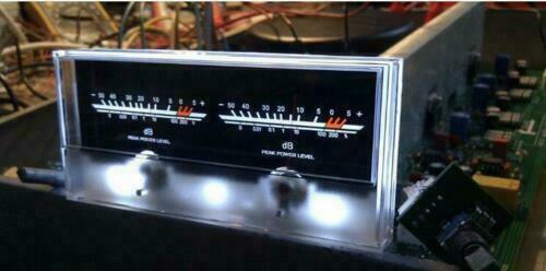 6.3 Double Pointer Power Amplifier VU Meter DB level Audio Power Meter Backligh