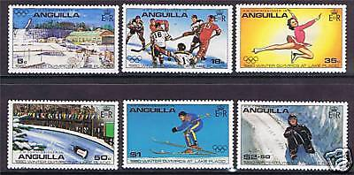 Anguilla 1980 Winter Olympic Games SG 389/94 MNH