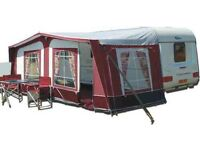 Pyramid Corsican full awning 1075/1100 with ground sheets and curtains EXCELLENT CONDITION