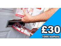 £30 per 1,000 leaflets - ** 07459494469 **