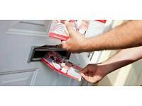 Leaflet distributors needed, immediately start!