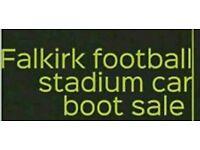 Falkirk football stadium car boot sale