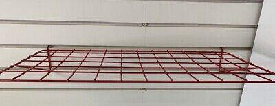 Wire Slatwall Shelf Red 24 L X 12 D Lot Of 6