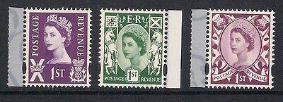 Scotland 2008 S154-6 Wilding Regional Definitives booklet stamps set MNH ex S134