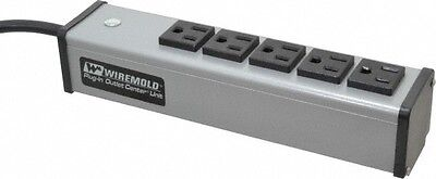 1.8 m Cord Length 120 Volt 20 Amp Power Outlet Strip 6... Wiremold 6 Outlets